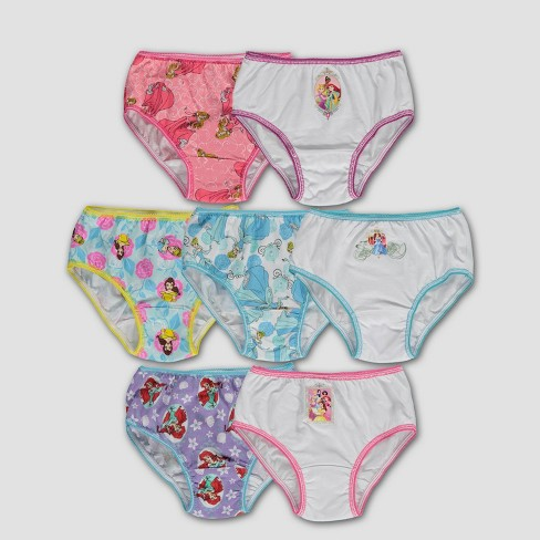 Girls' Disney Princess® 7pk Classic Briefs - Orchid - image 1 of 2
