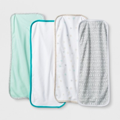Baby 4pk Burp Cloth Cloud Island™ - Mint/White