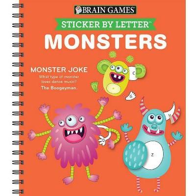 Sticker Puzzles Monsters - (Spiral_bound) (Spiral Bound)