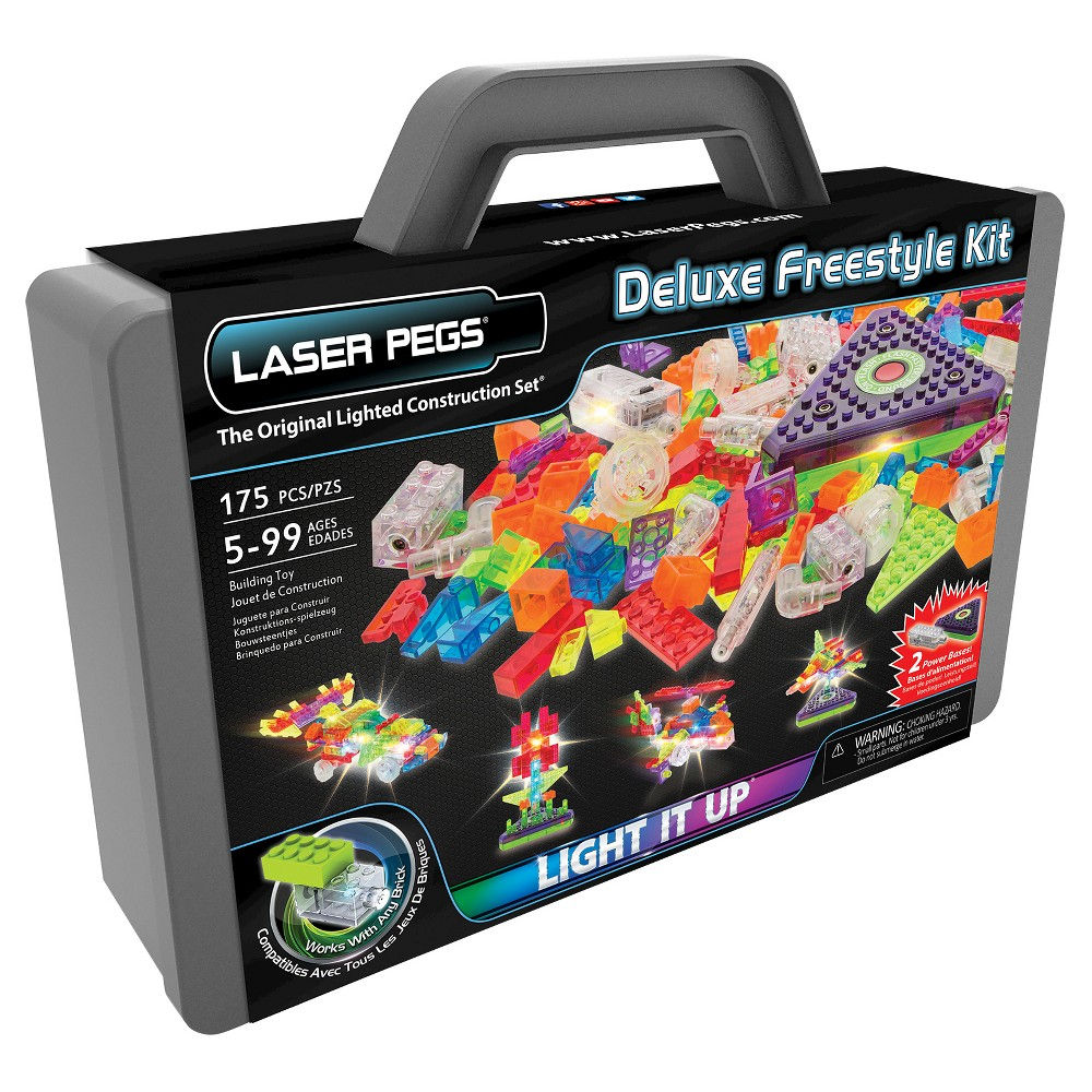 Laser Pegs Deluxe Freestyle Kit Lighted Construction Toy