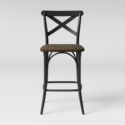Malden French Bistro Counter Height Barstool with Wood Seat - Threshold™