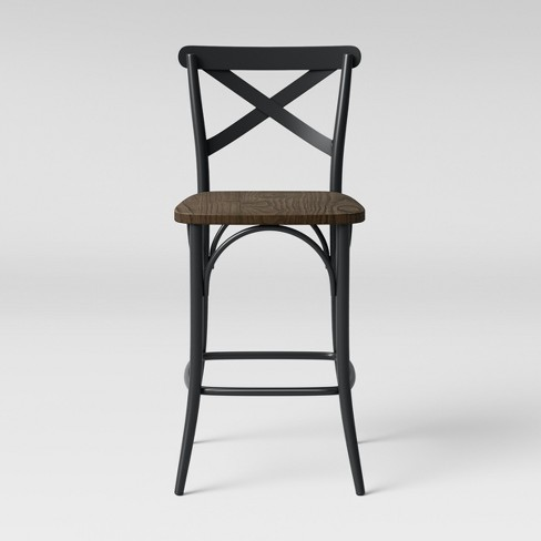 Malden French Counter Stool Black