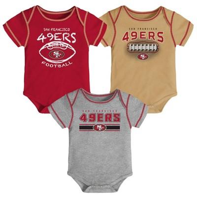 NFL San Francisco 49ers Baby Boys' Bodysuit Set 3pk - 3-6M