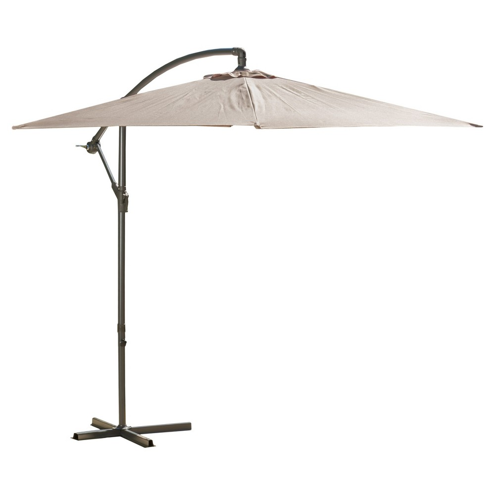 Image of 10' Monterey Banana Sun Cantilever Canopy - Mocha - Christopher Knight Home