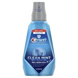 Crest Pro-Health Multi-Protection Alcohol Free Mouthwash Clean Mint - 33.8 fl oz