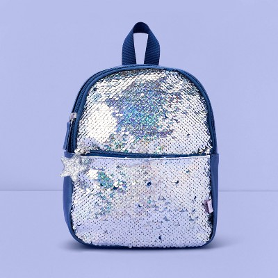 Girls' Flip Sequin Mini Backpack - More Than Magic™ Blue