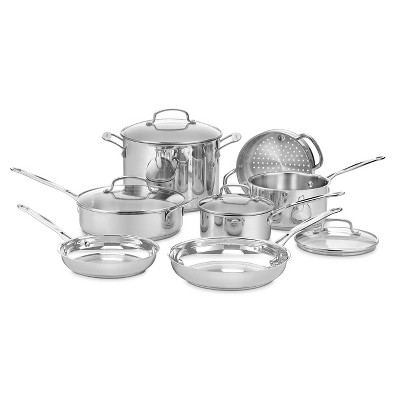 Cuisinart Chef's Classic 11pc Stainless Steel Cookware Set - 77-11G