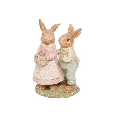 Gallerie II Farm Rabbit Couple Figure