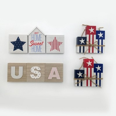 12ct Mini Signs Home Sweet Home/USA - Bullseye's Playground™