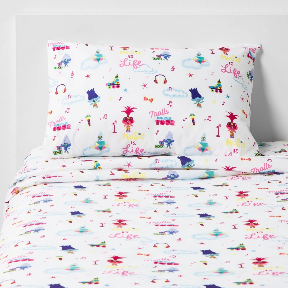 Image of Full Trolls World Tour Trolls in Harmony Sheet Set