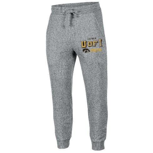 NCAA Mens Running Man Gray Classic Elastic Ankle Jogger Pants Iowa Hawkeyes - image 1 of 1