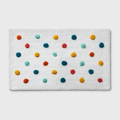 Polka Dot Bath Rug Green - Pillowfort™