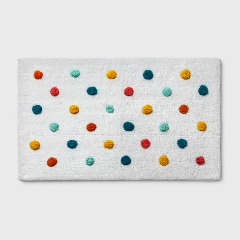 Polka Dot Bath Rug Green - Pillowfort™ - image 1 of 3