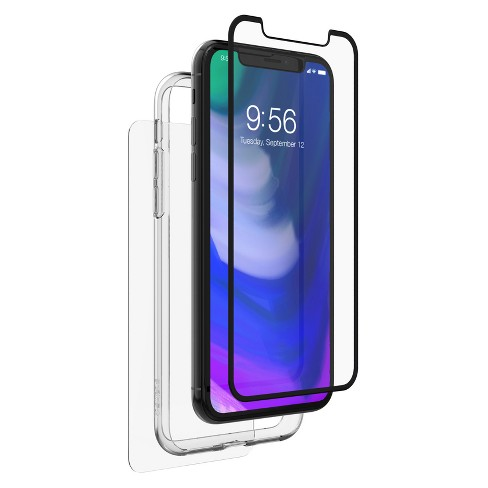 low priced 63b75 e1479 ZAGG Apple iPhone X Invisible Shield Glass+ Luxe 360 Screen Protector
