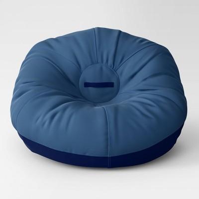"35.5"" Jumbo Two Tone Removable Cover Bean Bag Blue - Pillowfort™"