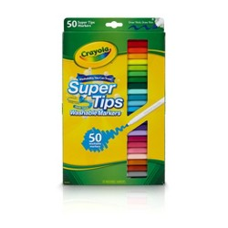 Crayola Supertips Markers Washable 50ct