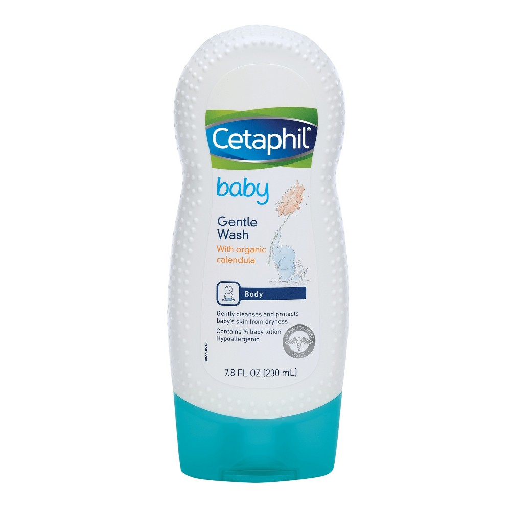 Cetaphil Baby Gentle Wash With Organic Calendula - 7.8oz Take care of your baby's skin with Cetaphil Baby Gentle Wash with Organic Calendula. This gentle baby wash combines lathering cleansers with baby lotion and organic calendula to protect your baby's skin and keep it moisturized. The baby wash rinses away, leaving baby with a soft, fresh scent. Gender: Unisex.