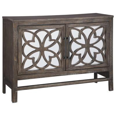 Alvaton Accent Cabinet Antique Brown - Signature Design by Ashley