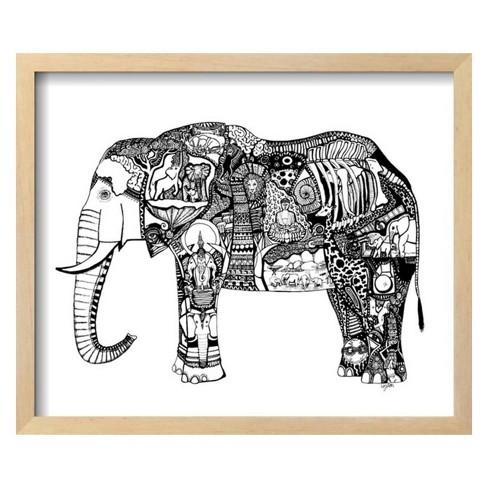 Goodbye Elephant by Liz Ash Framed Art Print - Art.com : Target