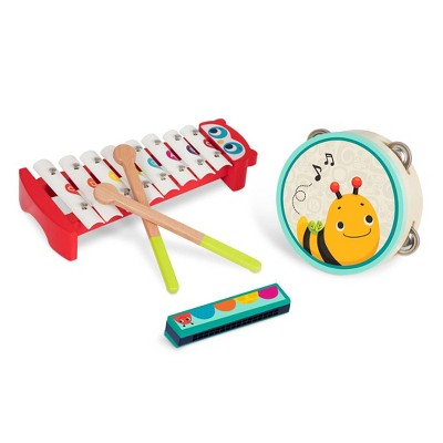 B. toys Wooden Musical Instruments Mini Melody Band