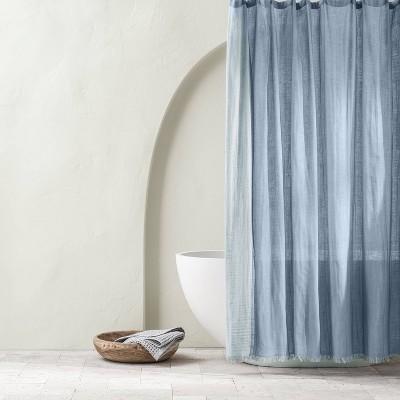 Gauze Shower Curtain Sky Blue - Casaluna™