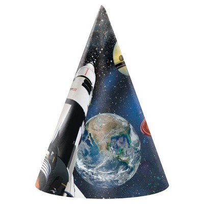 8ct Space Blast Party Hats