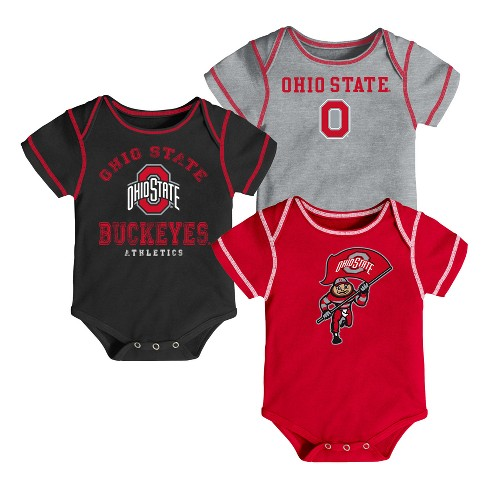 Ohio State Buckeyes First Fan 3pk Bodysuit Set - image 1 of 4