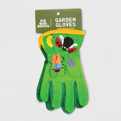 Bug Camo Gardening Gloves Green One Size - Kid Made Modern