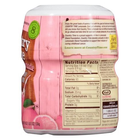 Country Time Pink Lemonade Ingredients