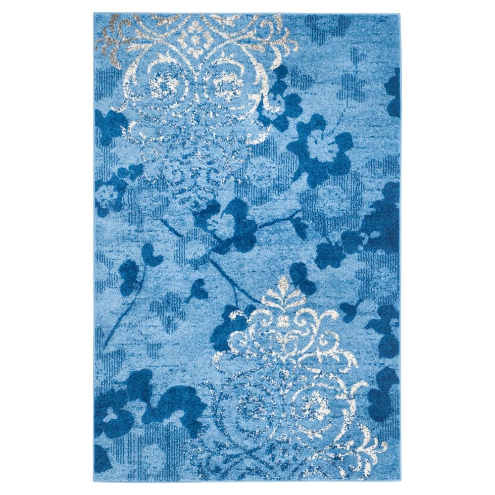 Norwel Area Rug - Light Blue/Dark Blue (5'1