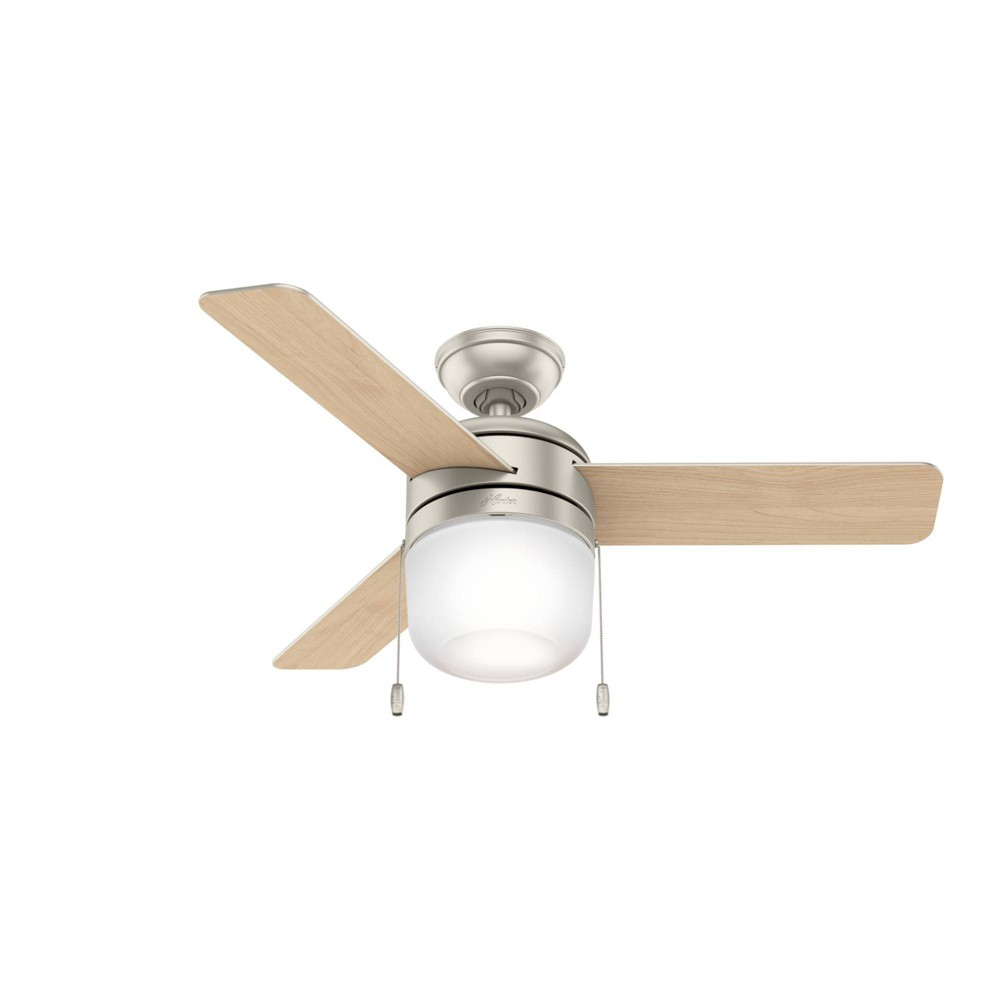 """Image of """"42"""""""" LED Acumen Ceiling Fan with Light Matte Nickel - Hunter Fan"""""""