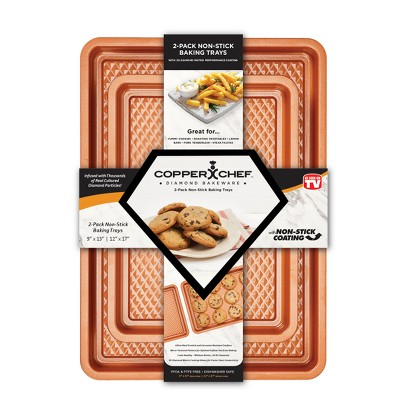 As Seen on TV 2pk Chef Diamond Copper Cookie Sheets