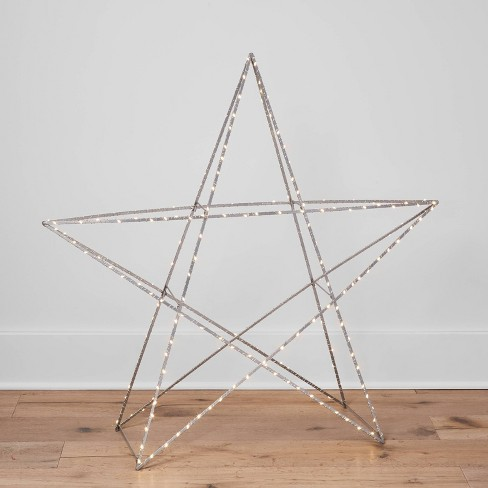 Large Lit Standing Metal Christmas Star Decorative Star - Wondershop™ - image 1 of 4