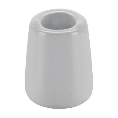 mDesign Decorative Modern  Round Ceramic Toothbrush Holder - 4 Pack