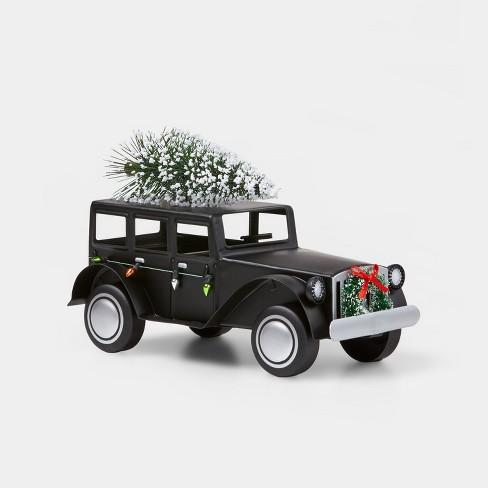 Small Rolls Royce with Christmas Tree on Top Decorative Figurine Black - Wondershop™ - image 1 of 1