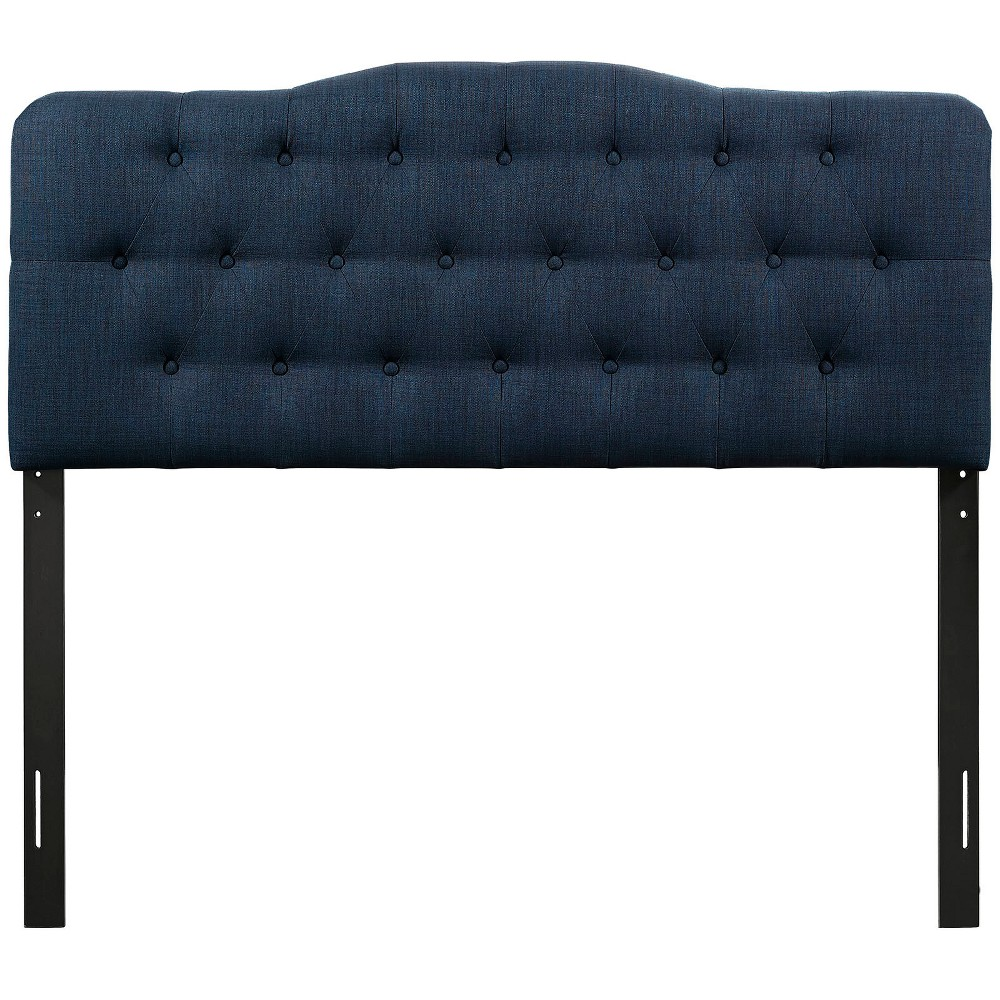 Annabel King Upholstered Fabric Headboard Navy (Blue) - Modway