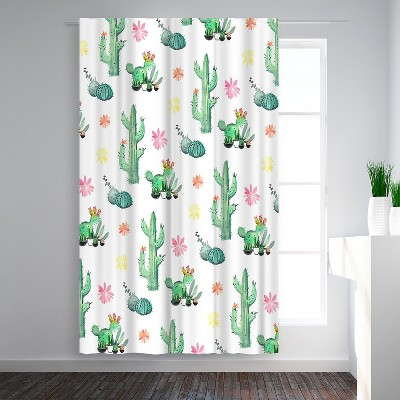 Americanflat Cactus by Victoria Nelson Blackout Rod Pocket Single Curtain Panel 50x84