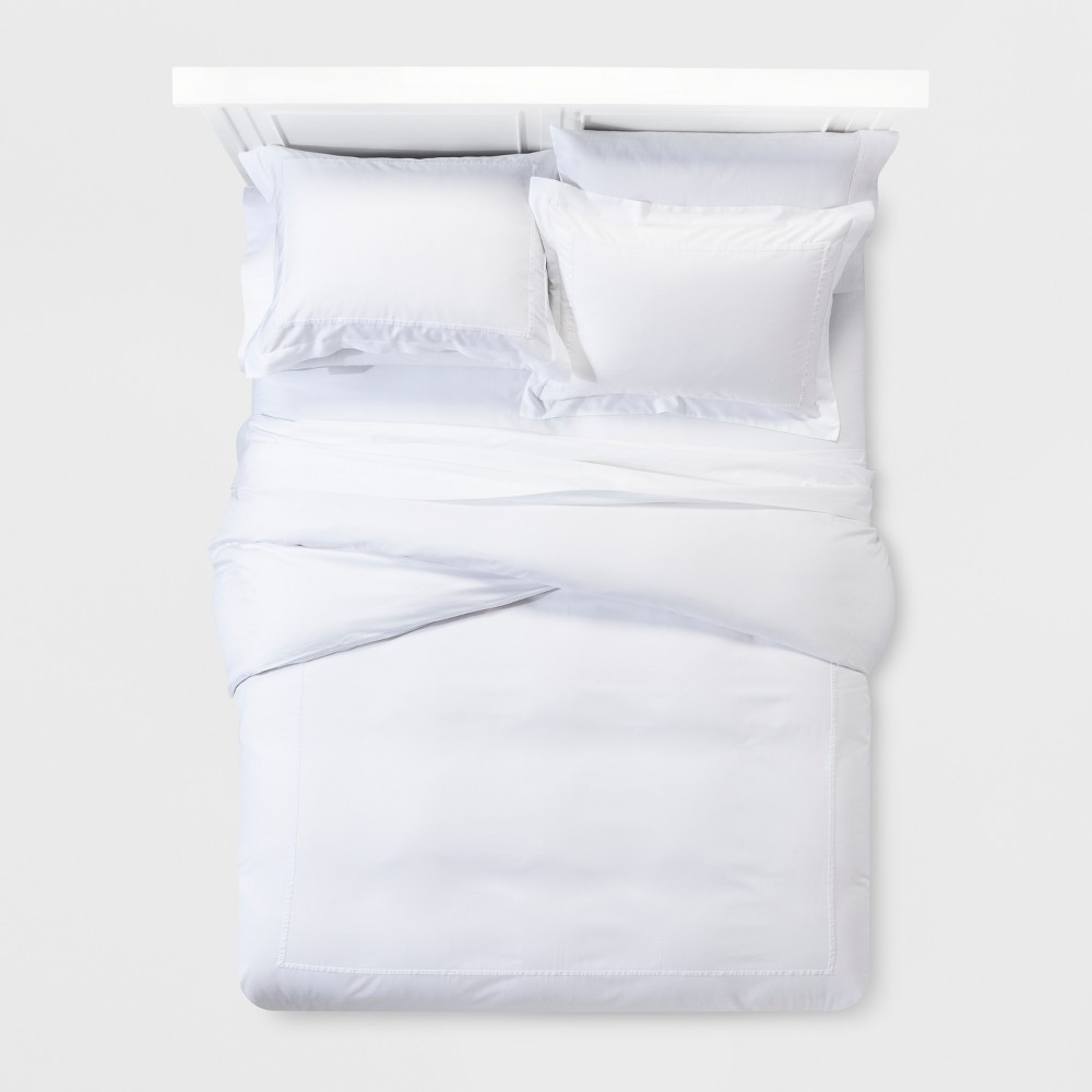 White Tencel Duvet Cover Set (Full/Queen) - Fieldcrest