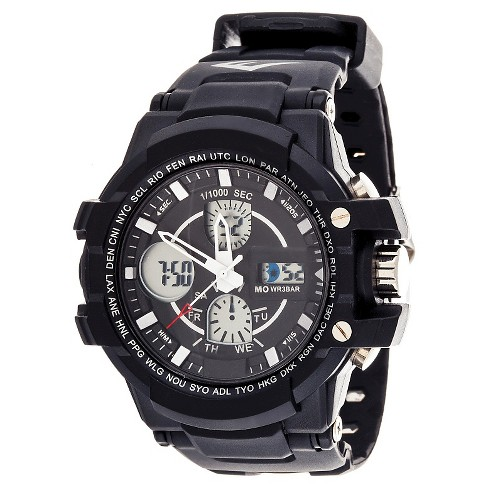 Everlast® Men's Analog and Digital Watch Black - image 1 of 1