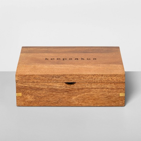 Keepsake Box Wood - Hearth & Hand™ with Magnolia - image 1 of 4