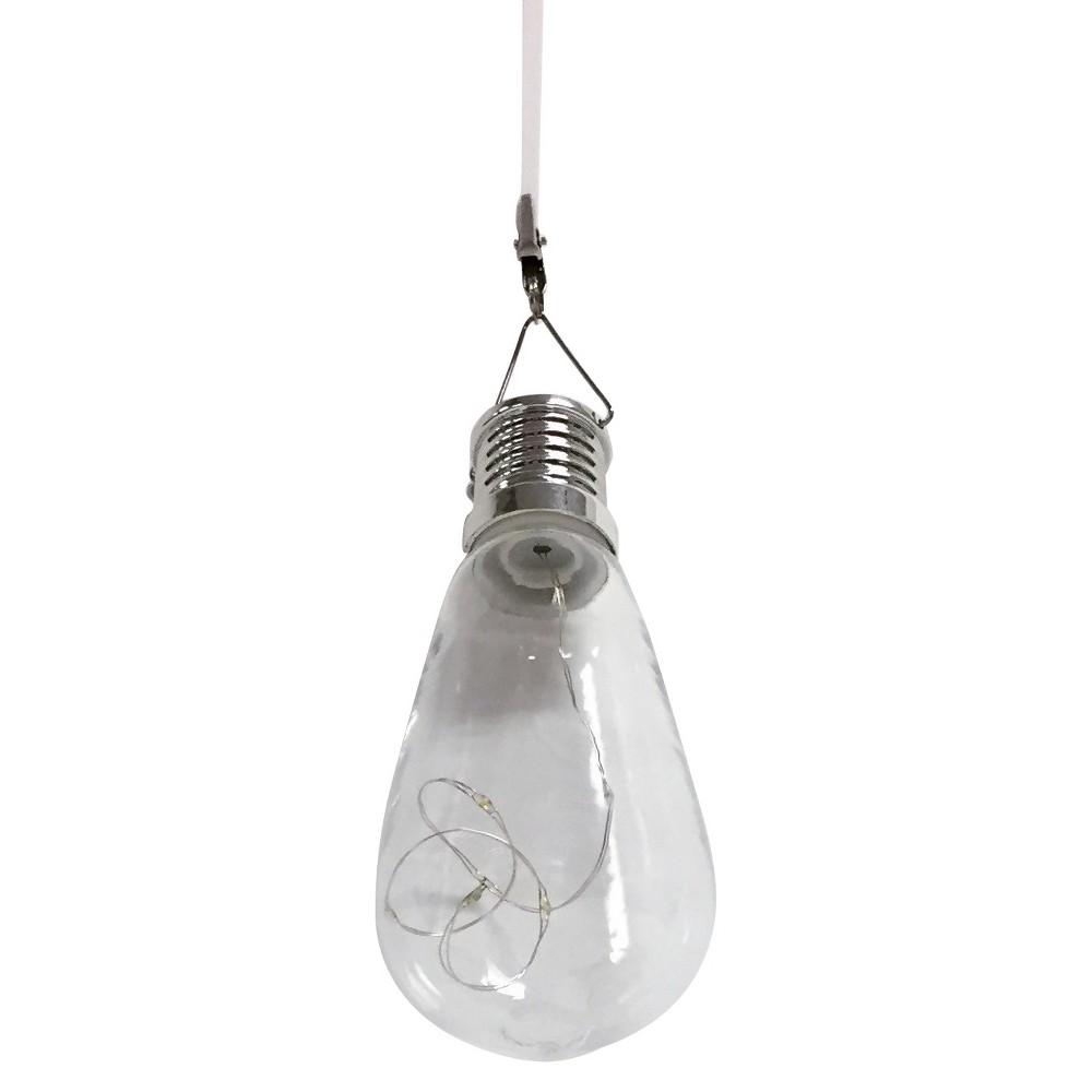 The Gerson Companies 5.79' H Solar ST64 Led Light Bulb With String Led Light