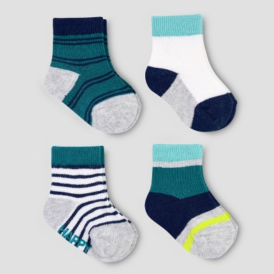 Baby Boys' 4pk Crew Socks - Just One You® made by carter's Emerald 0-3M