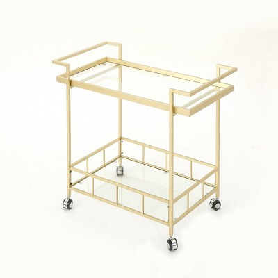 Ambrose Industrial Bar Cart Gold - Christopher Knight Home