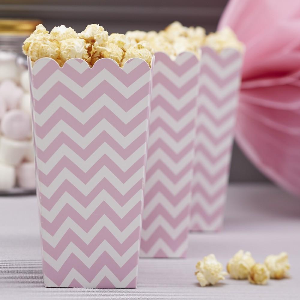 Image of 8ct Chevron Divine Popcorn Boxes Pink