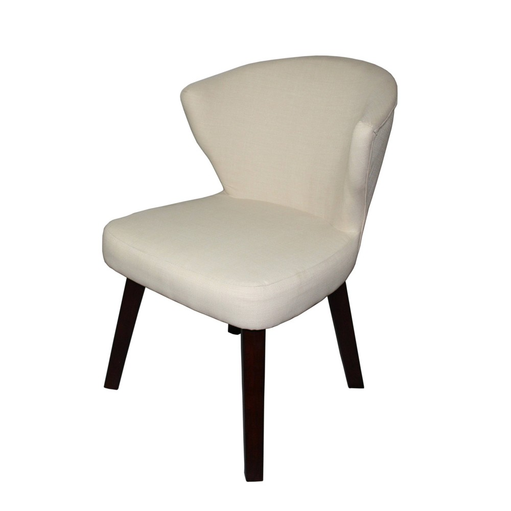 """Image of """"31"""""""" Concave Accent Chair Cream - Ore International, Ivory"""""""