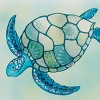 Papyrus Mosaic Turtle Blank Card - image 2 of 3