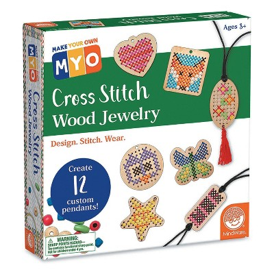 MindWare Make Your Own Cross-Stitch Jewelry - Creative Activities - 55 Pieces