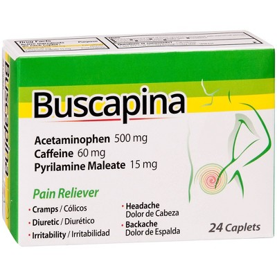 Buscapina Pain Relief Caplets - Acetaminophen - 24ct