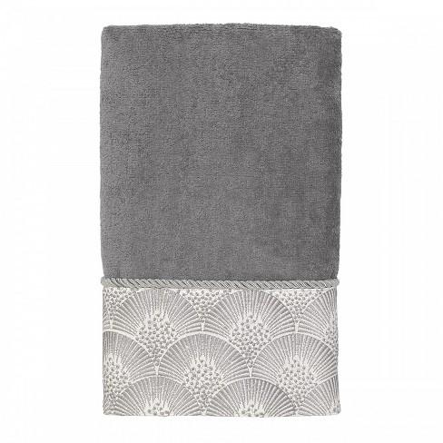 Avanti Deco Shell Hand Towel - Granite Gray - image 1 of 1
