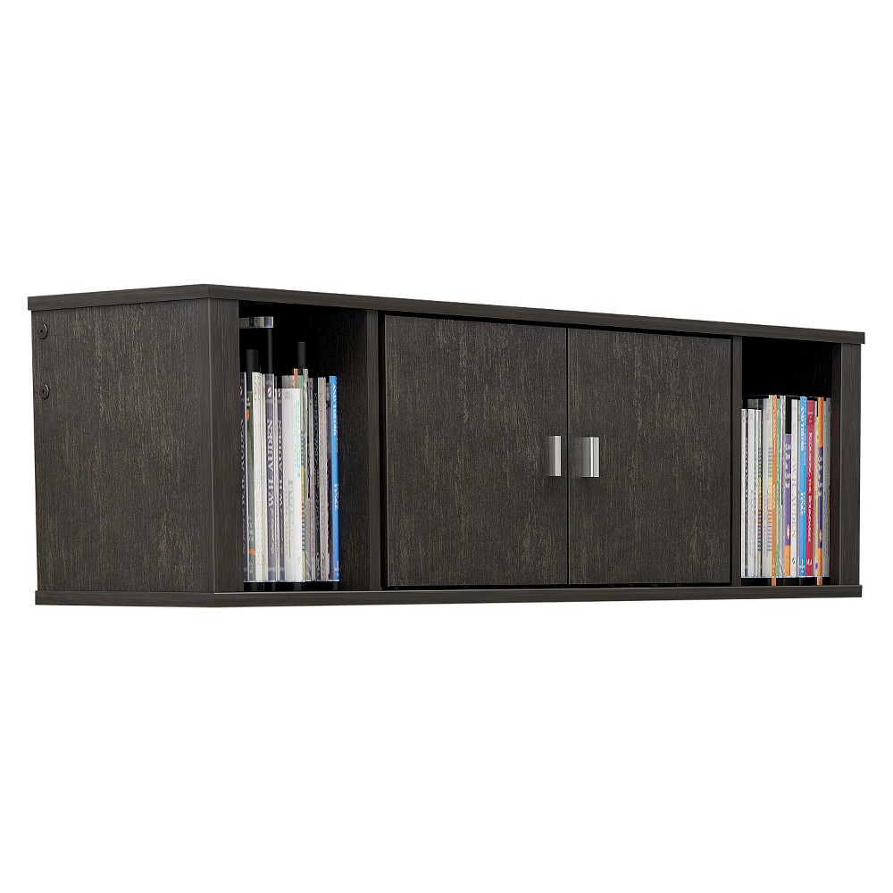Image of Designer Floating Hutch Wash Black - Prepac